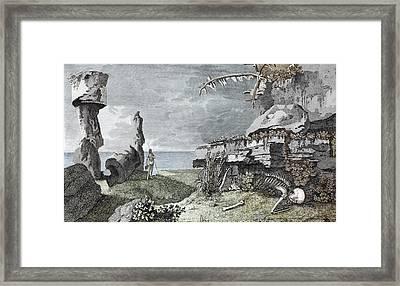 Desolation Of Easter Island Framed Print