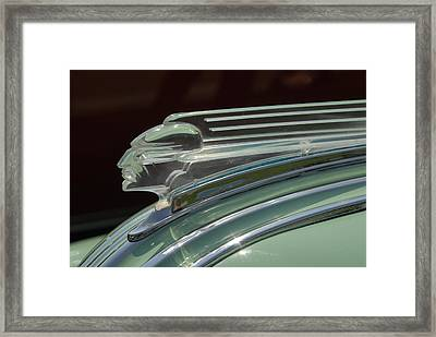 Framed Print featuring the photograph Desoto Hood Ornament  by Craig Perry-Ollila