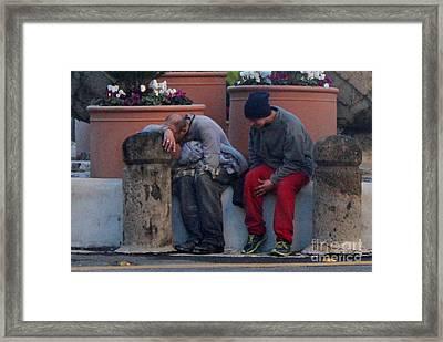 Despair And A Friend Framed Print by Joe Jake Pratt