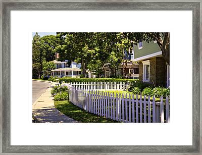 Desperate Neighborhood Framed Print
