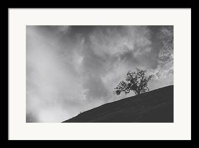 Grassy Hill Framed Prints