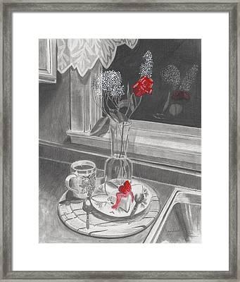 Dessert For Two Framed Print by Susan Schmitz