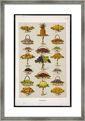 Dessert Fruits, Including  Ginger Framed Print by Mary Evans Picture Library