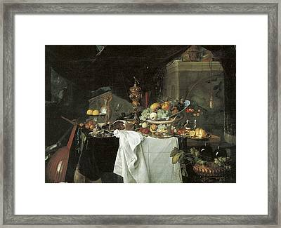 Dessert Still Life Framed Print by Jan Davidsz de Heem