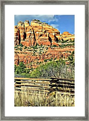 Framed Print featuring the photograph Dessert View by Lori Mellen-Pagliaro