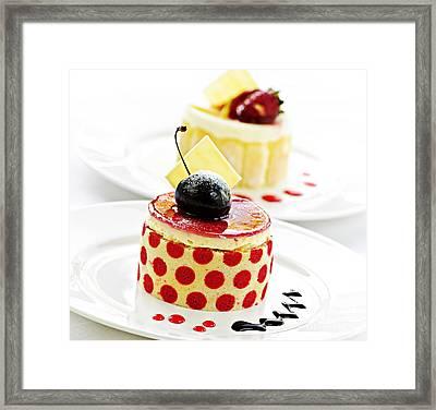 Desserts Framed Print by Elena Elisseeva