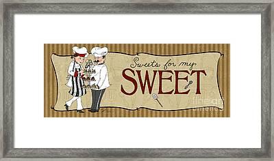 Desserts Kitchen Sign-sweet Framed Print by Shari Warren