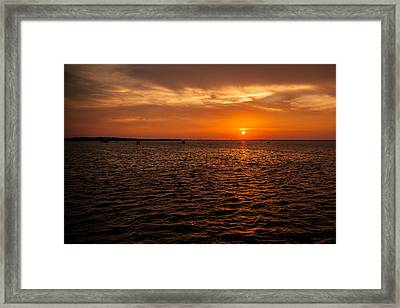Destin Bay Framed Print by Paul Bartoszek