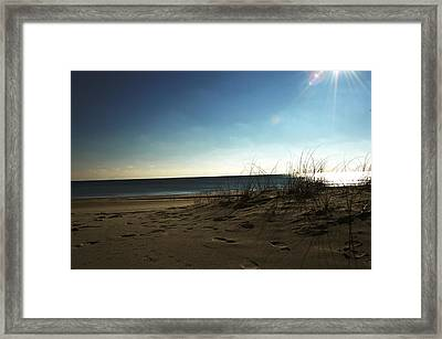 Destin Beach Sun Glare Framed Print