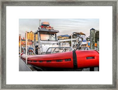 Destin Fire And Rescue Framed Print