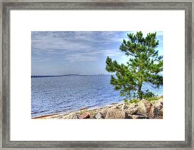 Destin Midbay Bridge Framed Print
