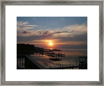 Destin Sunset Framed Print