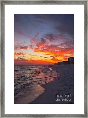 Destin Sunset Framed Print by Kay Pickens