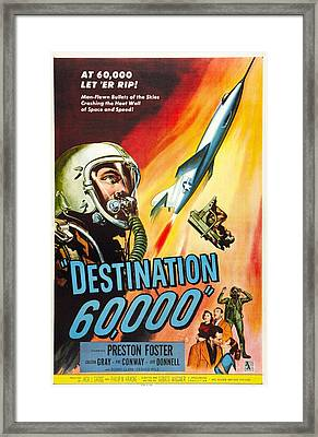 Destination 60,000, Us Poster, Preston Framed Print by Everett