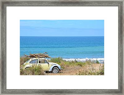 Destination Bonfire - Sayulita Framed Print by Amy Fearn