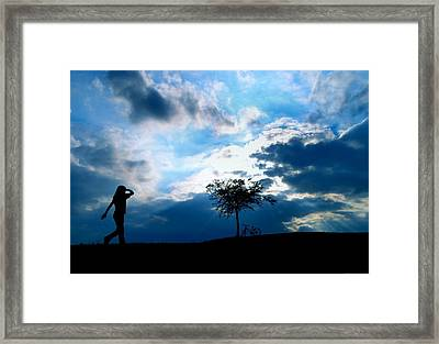 Destination Framed Print by Chrystyne Novack