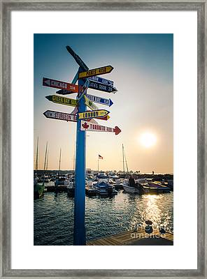 Framed Print featuring the photograph Destination Egg Harbor by Mark David Zahn Photography