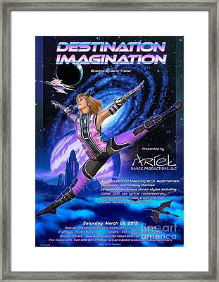 Destination Imagination Poster Framed Print by Stu Shepherd