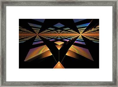 Framed Print featuring the digital art Destination Paths by GJ Blackman