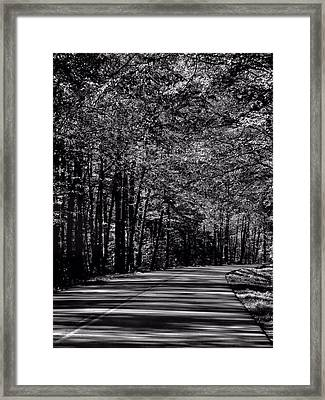 Destination Unknown Black And White Framed Print