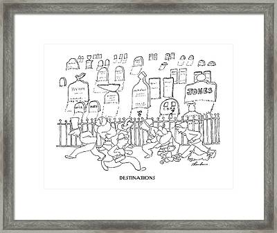 Destinations Framed Print by James Thurber