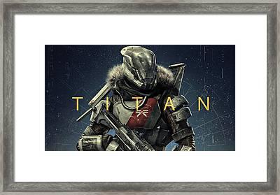 Destiny 2 Titan Framed Print
