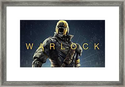 Destiny 3 Warlock Framed Print