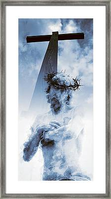 Destiny And Prophecy Blue Framed Print by Daniel Hagerman