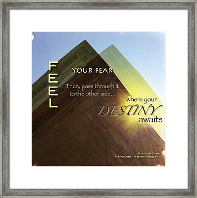 Your Destiny Waits Framed Print by Mark David Gerson