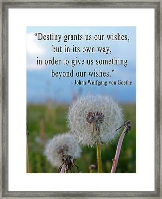 Destiny Wish Makers Framed Print