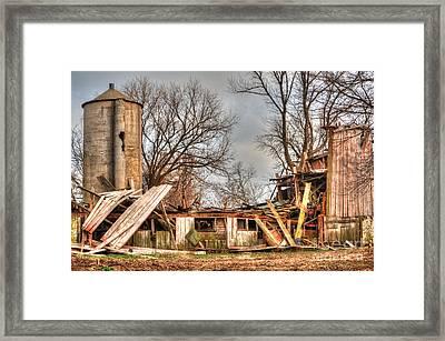 Destruction Barn Framed Print by Deborah Smolinske