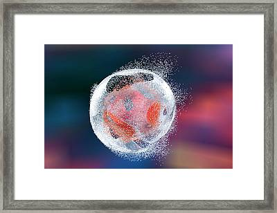 Destruction Of A Human Cell Framed Print by Kateryna Kon