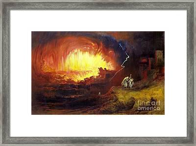 Destruction Of Sodom And Gomorrah Framed Print