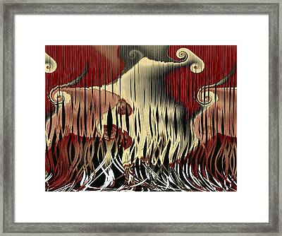 Destruction Of The Earth Abstract Framed Print