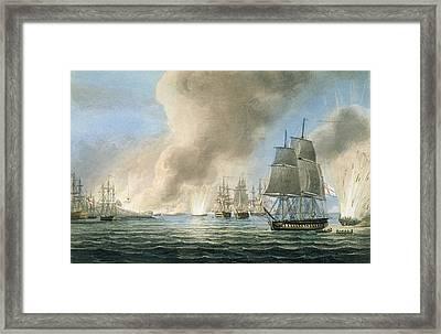 Destruction Of The Turkish Fleet Framed Print
