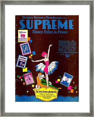 Desylva Brown And Henderson Supreme Dance Folio Framed Print by Mel Thompson