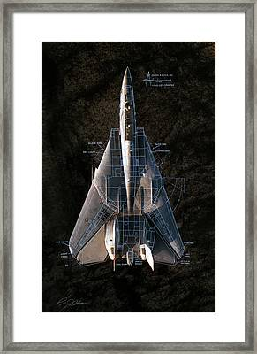 Detail And Scale F-14 Tomcat Framed Print