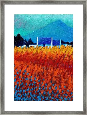 Detail From Golden Wheat Field Framed Print by John  Nolan
