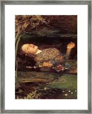 Detail From Ophelia Framed Print by Philip Ralley