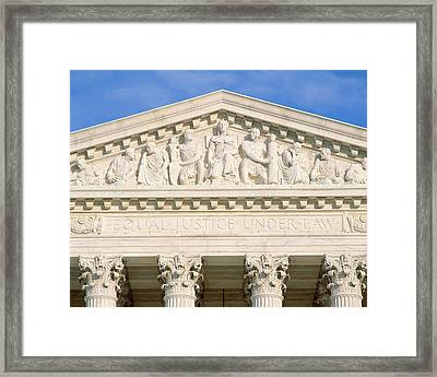 Detail From Supreme Court Building Framed Print by Panoramic Images