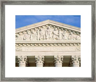 Detail From Supreme Court Building Framed Print
