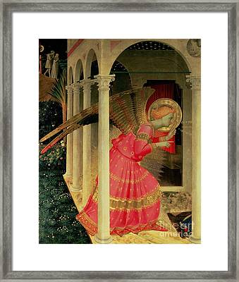 Detail From The Annunciation Showing The Angel Gabriel Framed Print by Fra Angelico