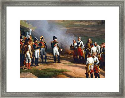 Detail From The Surrender Of Ulm, 20th October, 1805 - Napoleon And The Austrian Generals, 1815 Oil Framed Print by Charles Thevenin