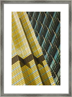 Detail Of A Building, Pudong, Shanghai Framed Print