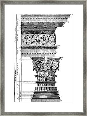 Detail Of A Corinthian Column And Frieze I Framed Print by Suzanne Powers