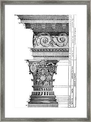 Detail Of A Corinthian Column And Frieze II Framed Print by Suzanne Powers