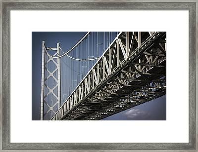 Detail Of Akashi Kaikyo Super Bridge Framed Print