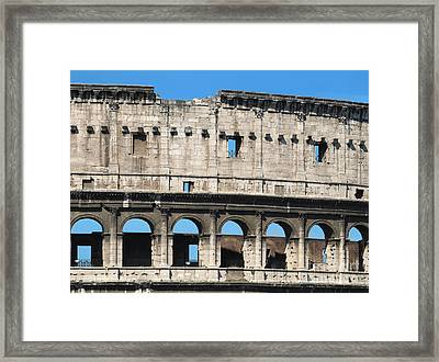 Detail Of Colosseum Facade Framed Print by Kiril Stanchev