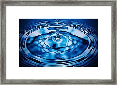 Detail Of Drop Falling In Water Framed Print by Andrew Mackenzie / Eyeem