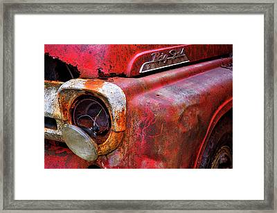 Detail Of Fire Truck That Belonged Framed Print by Marion Owen